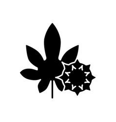 Castor bean black glyph icon vector