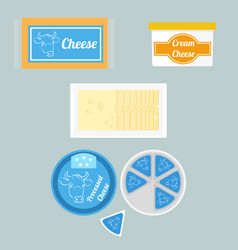 Cheese in package vector