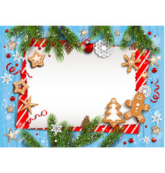 Christmas striped blank template vector