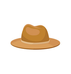 classic men s panama hat stylish accessory vector image