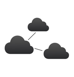 clouds connections icon social networks concept vector image