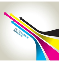 cmyk colour arrow strips vector image