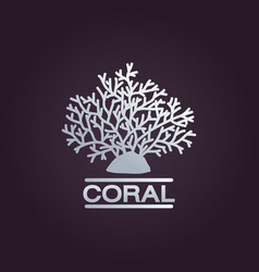 coral logo icon design template vector image