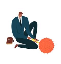 coronavirus outbreak financial crisis help policy vector image