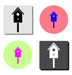 cuckoo clock flat icon vector image