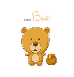 cute cartoon bear vector image