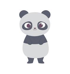 Cute little panda animal cartoon isolated design vector