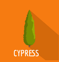 cypress tree icon flat style vector image