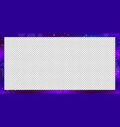 fantastic rectangle border on transparent vector image