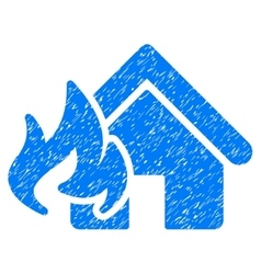 Fire Damage Grainy Texture Icon vector