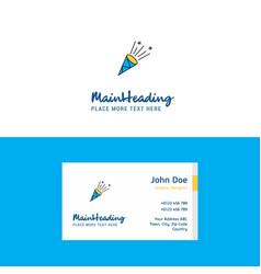 flat celebration pop logo and visiting card vector image