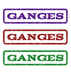 Ganges watermark stamp vector