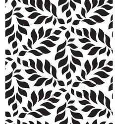 Geometric seamless pattern Modern floral leaves vector