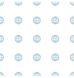 globe icon pattern seamless white background vector image