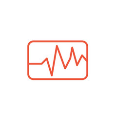graph icon simple graph icon in square isolated vector image