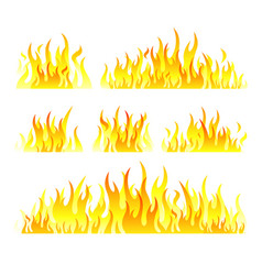 Graphic flames isolated on vector
