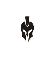 greek sparta spartan warrior helmet armor logo vector image