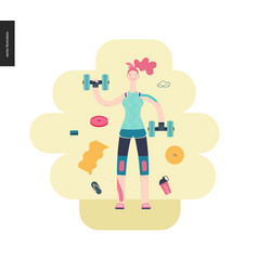 gym - girl exercising vector image