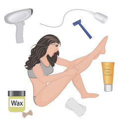 Hair removal methods vector