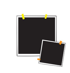 hand drawn photo frame with adhesive tape vector image