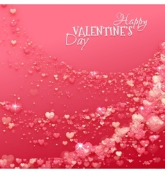 Happy valentine day background with hearts vector image