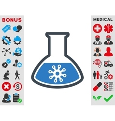 Infection container icon vector
