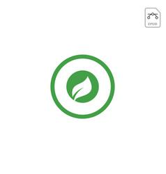 leaf letter o logo design inspiration icon vector image