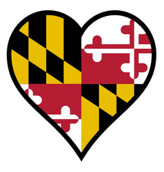 Love maryland vector