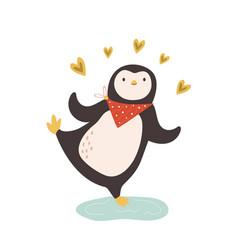 Lovely penguin funny vector