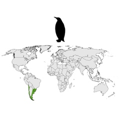Magellanic penguin range vector
