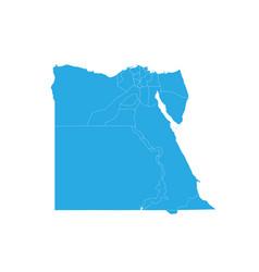 Map of egypt high detailed map - egypt vector
