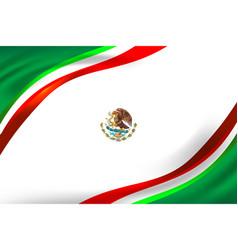 Mexico flag background vector
