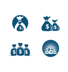 money bag icon template vector image