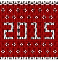 New year knitted background vector