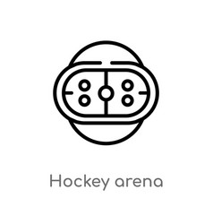 Outline hockey arena icon isolated black simple vector
