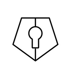Pentagonal lock logo icon vector