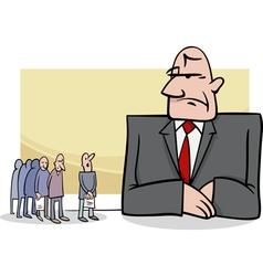 people in bank cartoon vector image