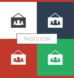 Photo icon white background vector