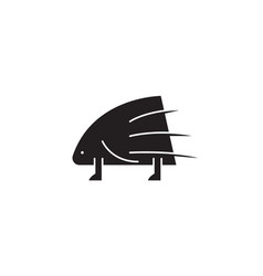 porcupine black concept icon porcupine vector image