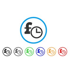 Pound credit rounded icon vector