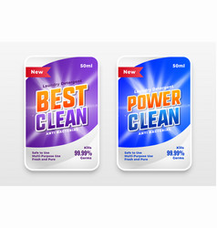 Power wash and cleaner label template design vector