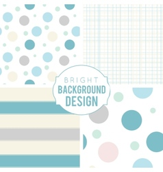 Pretty pastel seamless patterns vector image