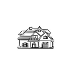 Private house hand drawn outline doodle icon vector