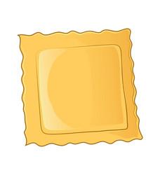 ravioli pasta icon cartoon ravioli pasta icon vector image