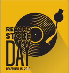 Record store day retro vintage template 2 vector