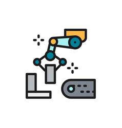 Robotic manipulator arm with metal parts vector