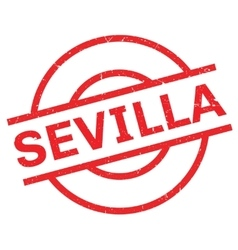 Sevilla rubber stamp vector