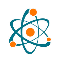 single abstract atom sign icon vector image