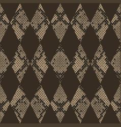 snakeskin reptile geometric seamless pattern vector image