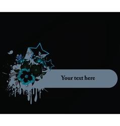 splash floral frame vector image vector image